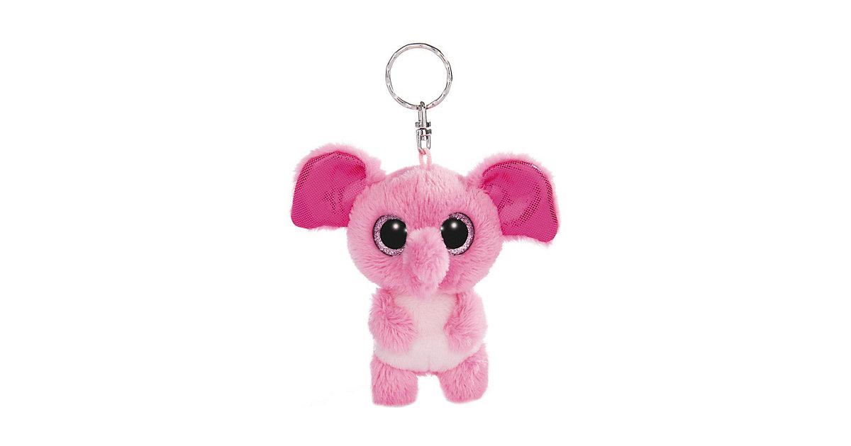 Glubschis Schlenker Elefant Fluppy 9cm Schlüsselanhänger pink