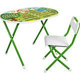 Набор складной мебели Дача №у3-01: стол и стул, зеленый
