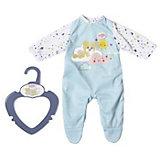 Одежда для куклы Zapf creation My little baby born Ночной комбинезончик, голубой