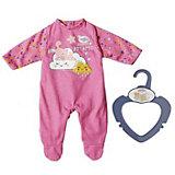 Одежда для куклы Zapf creation My little baby born Ночной комбинезончик, розовый
