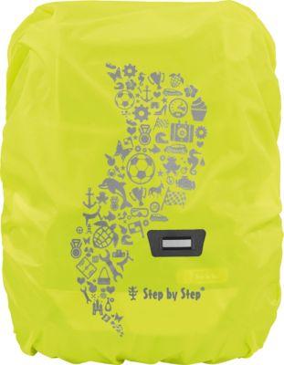 Regenschutz für Schulranzen Step by Step, gelb, Step by Step