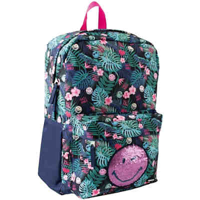 Freizeitrucksack mit Vortasche, Smiley World Tropical Dream, 23 Liter
