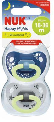 NUK Space 2 x Schnuller 6-18 kiefergerecht gr 0-6 18-36 Bär /& Wal