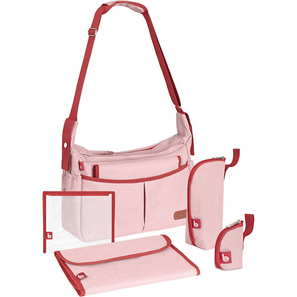 Wickeltasche Urban Bag, Rose Melange
