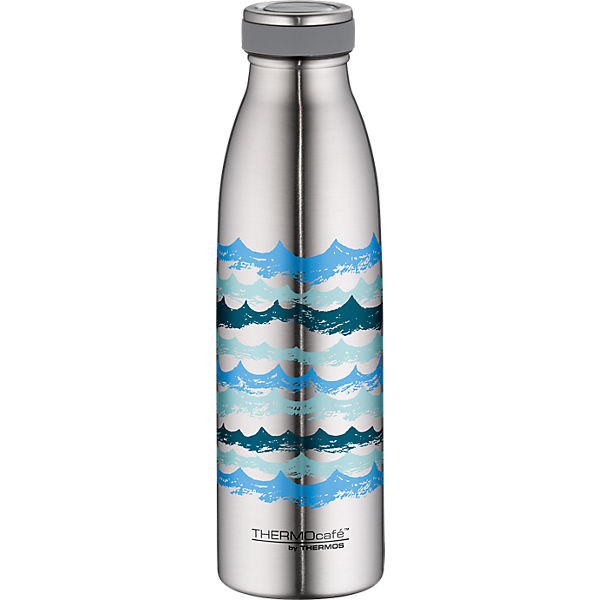 Isoliertrinkflasche ThermoCafé TC Bottle waves, 500 ml, Edelstahl