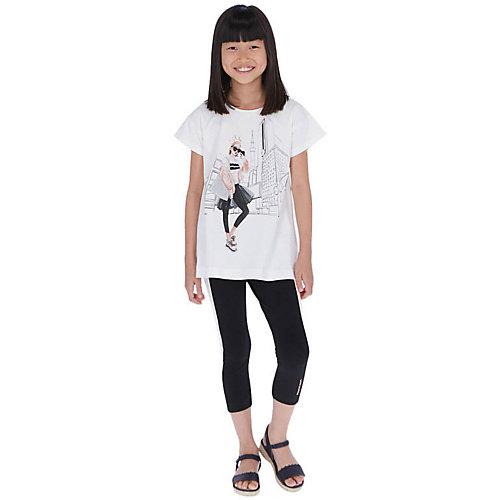 Комплект Mayoral: футболка и леггинсы - черный от Mayoral