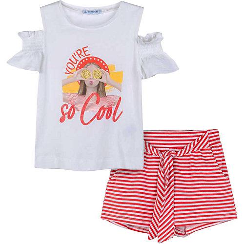 Комплект Mayoral: футболка и шорты - оранжевый от Mayoral