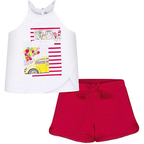Комплект Mayoral: топ и шорты - красный от Mayoral