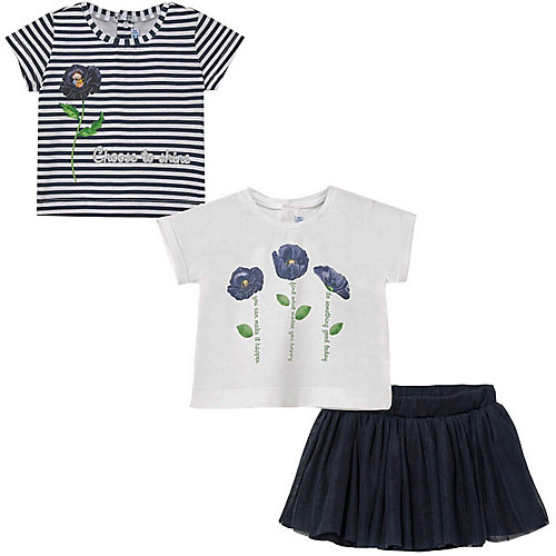 Комплект Mayoral: футболка 2 шт. и юбка - темно-синий от Mayoral