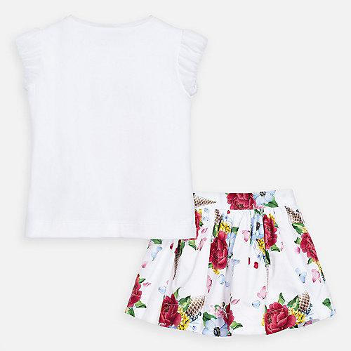 Комплект Mayoral: футболка и юбка - красный от Mayoral