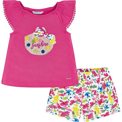 Комплект Mayoral: футболка и шорты - фуксия от Mayoral