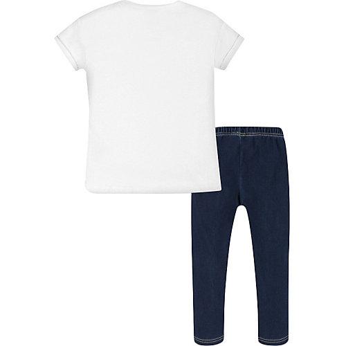 Комплект Mayoral: футболка и леггинсы - белый от Mayoral