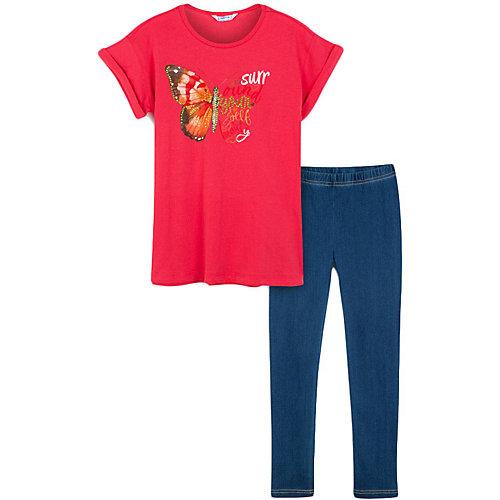 Комплетк Mayoral: футболка и леггинсы - красный от Mayoral