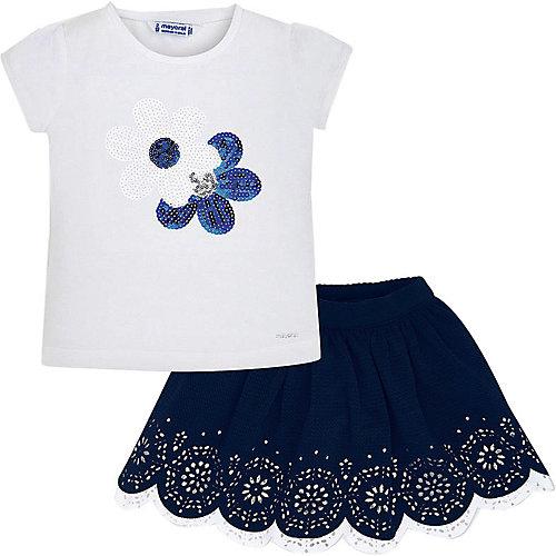 Комплект Mayoral: футболка и юбка - темно-синий от Mayoral