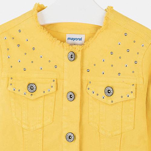 Джинсовая куртка Mayoral - желтый от Mayoral