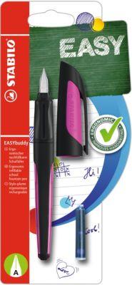 Schulfüller EASYbuddy A-Feder schwarz/magenta, inkl. Patrone schwarz/pink