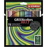 Цветные карандаши Stabilo Greencolors Arty, 24 цвета