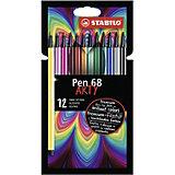 Фломастеры Stabilo Pen 68, 12 цветов