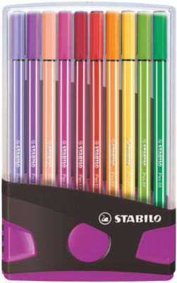 Premium-Filzstifte Pen 68, 20 Farben im Color Parade Tischset pink