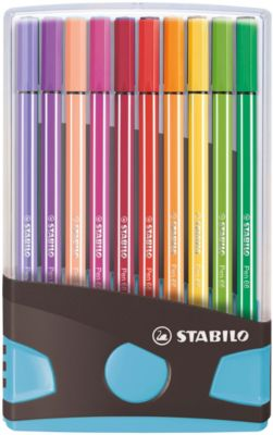 Premium-Filzstifte Pen 68, 20 Farben im Color Parade Tischset blau hellblau