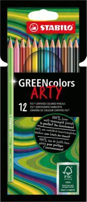 Buntstifte GREENcolors ARTY, 12 Farben