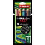 Цветные карандаши Stabilo Greencolors Arty, 12 цветов