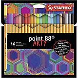Капиллярные ручки Stabilo Point 88 Arty, 24 цвета
