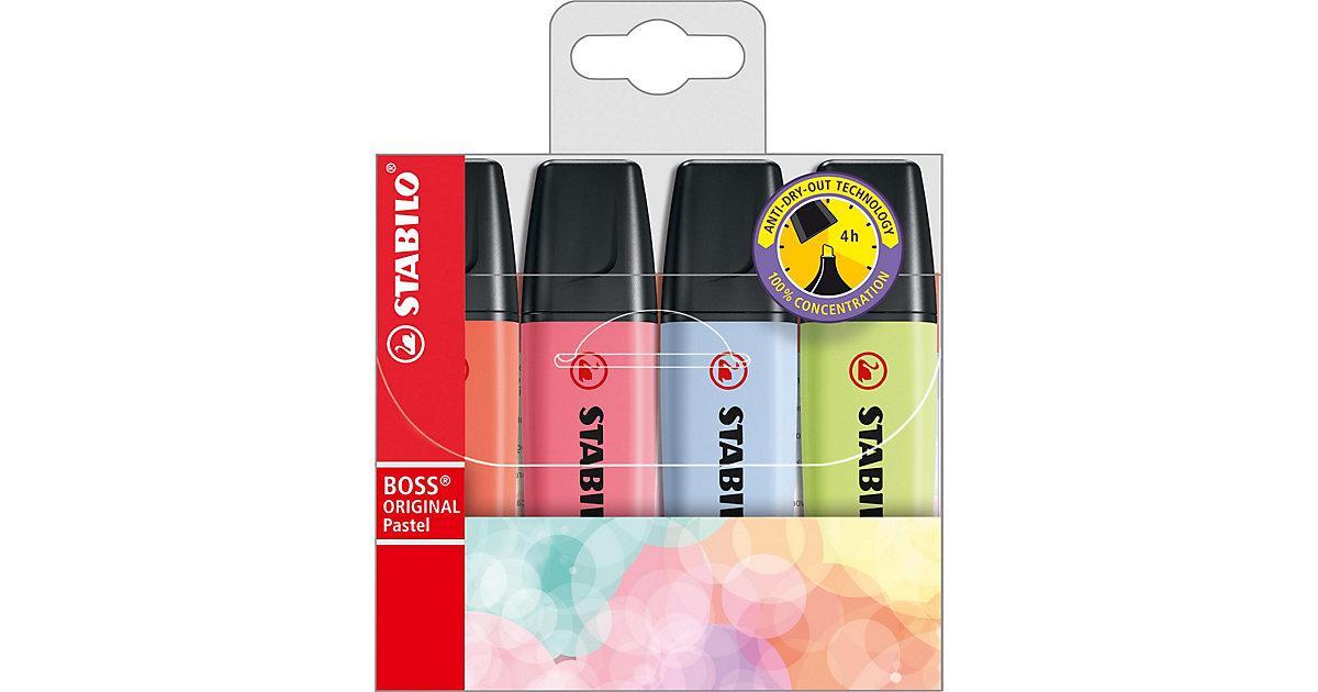 Textmarker BOSS Original Pastel, 4 Farben