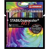 Акварельные карандаши Stabilo Aquacolor Arty, 24 цвета