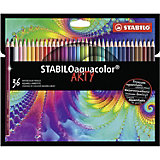 Акварельные карандаши Stabilo Aquacolor Arty, 36 цветов