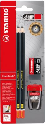 Bleistiftset Exam Grade HB, 6-tlg., inkl. Spitzer & Radierer