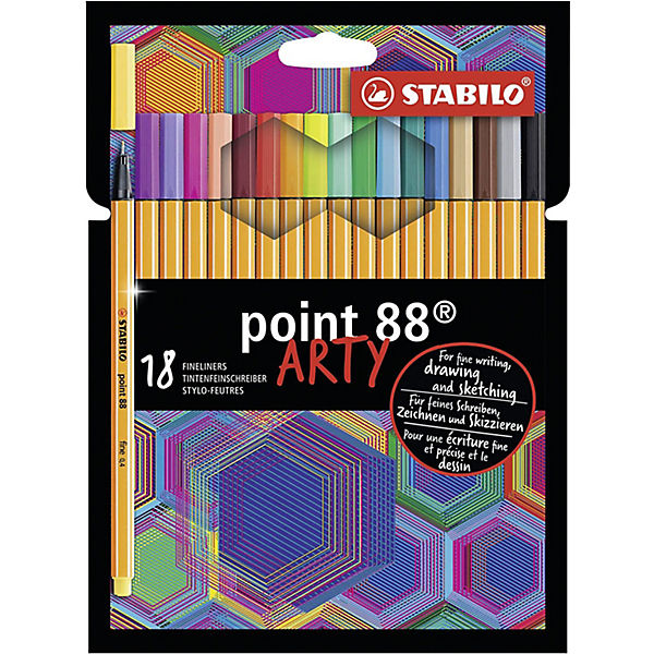 Fineliner point 88 ARTY, 18 Farben