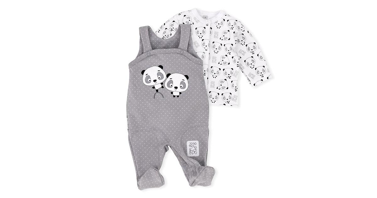 2tlg Set Strampler + Shirt Lieblingsstücke Panda Strampler Kinder weiß-kombi Gr. 68 Kinder