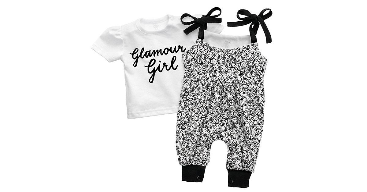 2tlg Set Strampler + Shirt Glamour Collection by Katja Kühne Strampler schwarz/weiß Gr. 68 Mädchen Kinder