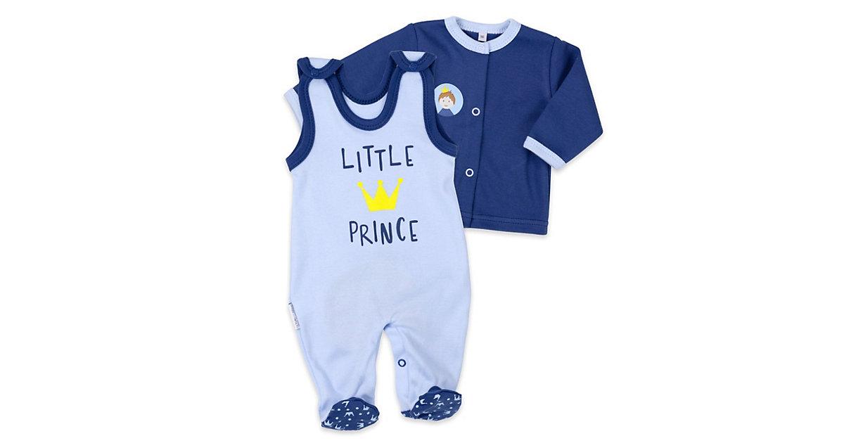 2tlg Set Strampler + Shirt Little Prince Strampler blau Gr. 62 Jungen Kinder