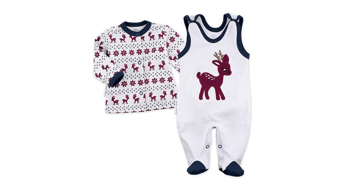 2tlg Set Strampler + Shirt Little Reindeer Strampler Kinder grau-kombi Gr. 56 Kinder