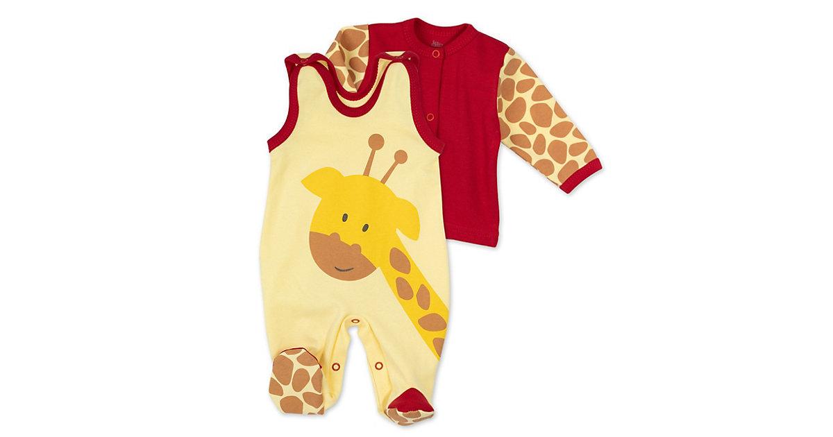 2tlg Set Strampler + Shirt Baby Giraffe Strampler Kinder gelb-kombi Gr. 80 Kinder