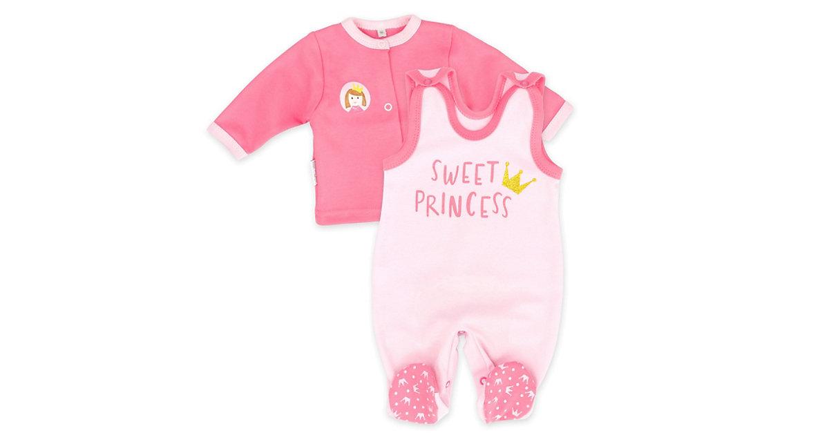 2tlg Set Strampler + Shirt Sweet Princess Strampler rosa Gr. 56 Mädchen Kinder