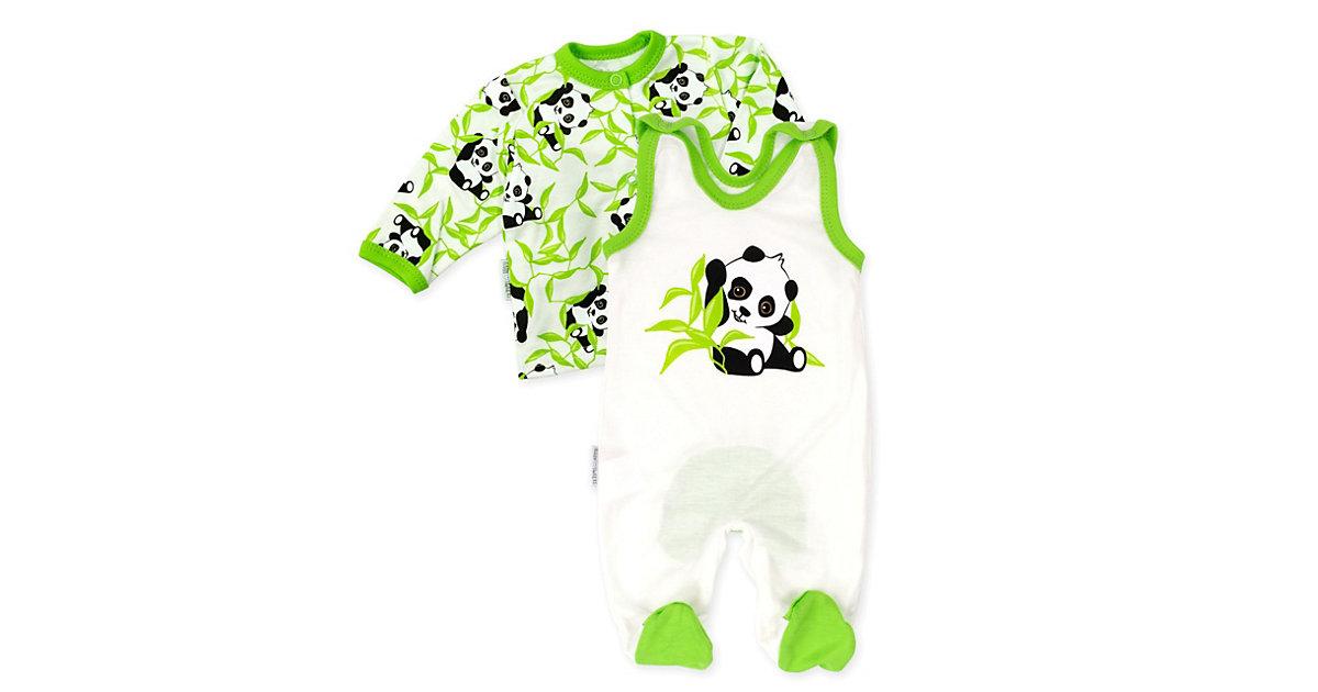 2tlg Set Strampler + Shirt Happy Panda Strampler Kinder beige-kombi Gr. 80 Kinder
