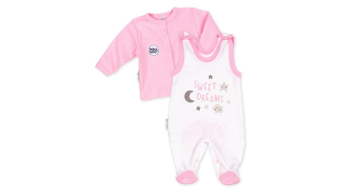 2tlg Set Strampler + Shirt Sweet Dreams Mädchen Strampler weiß-kombi Gr. 62 Mädchen Kinder
