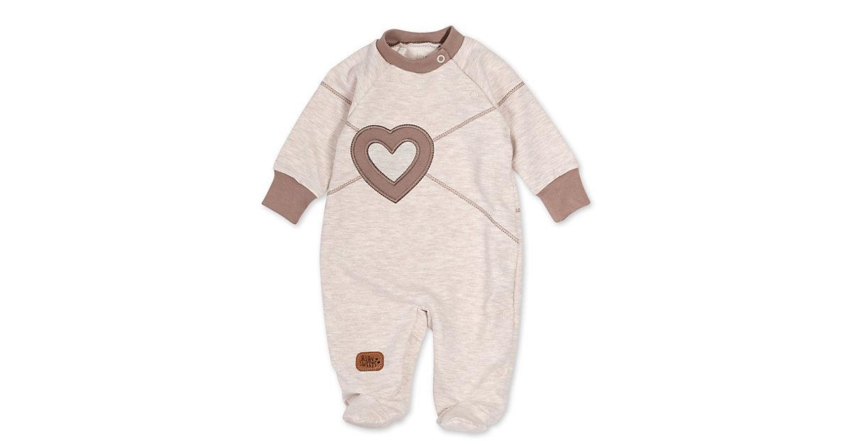 Schlafanzug Patchwork Herzen Schlafanzüge  beige/braun Gr. 68 Mädchen Kinder
