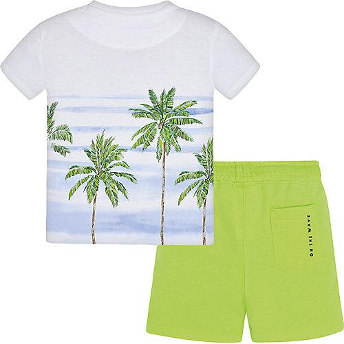 Комплект Mayoral: футболка и шорты - зеленый от Mayoral
