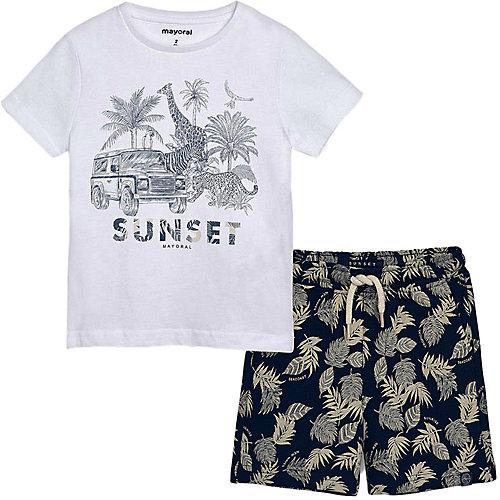 Комплект Mayoral: футболка и шорты - белый от Mayoral