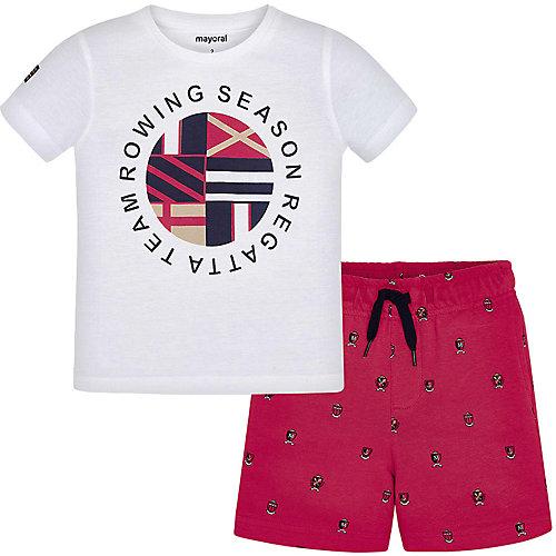 Комплект Mayoral: футболка и шорты - розовый/белый от Mayoral