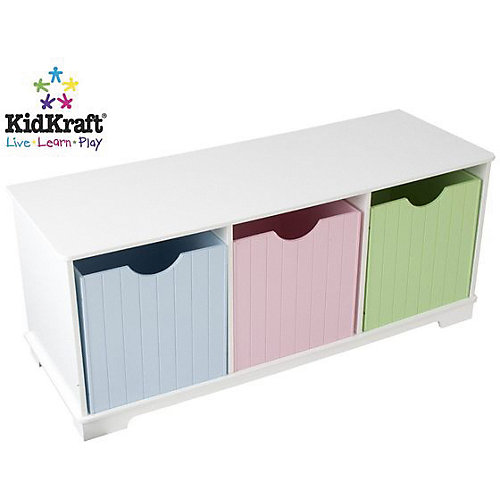 Скамья с ящичками для хранения KidKraft Storage Bench Pastel от KidKraft