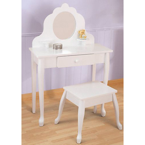 "Туалетный столик KidKraft ""Модница""  White Medium Vanity & Stool от KidKraft"