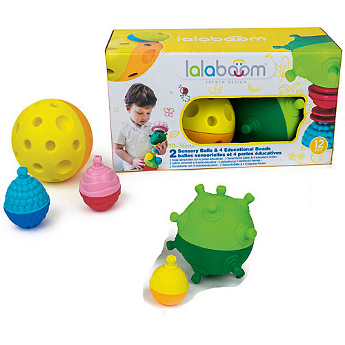 Тактильные развивающие шары Lalaboom, 2 шт, 12 деталей от Lalaboom