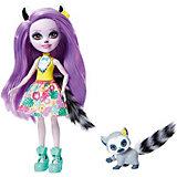 Кукла с любимой зверюшкой Enchantimals Лариса Лемур и Ринглет