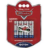 """Батарейки Фотон AA (LR6) Disney """"Тачки"""", 4 шт"""
