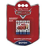 """Батарейки Фотон ААА (LR03) Disney """"Тачки"""", 4 шт"""
